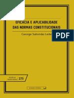 Eficacia e aplicabilidade das normas constitucionais - George Salomão Leite