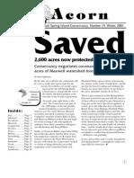 Winter 2001  Acorn Newsletter - Salt Spring Island Conservancy