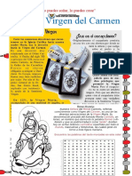 FICHA DE APLICACIÓN - LA VIRGEN DEL CARMEN