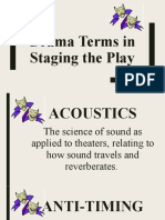 DRAMA TERMS IN STAGING A PLAY