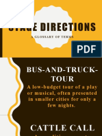 STAGE DIRECTIONS A GLOSSARY OF TERMS