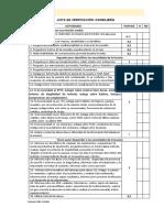 Lista de Verificación Consejeria