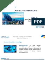 Red de acceso y transporte de telecomunicaciones