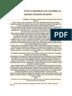 CONSAGRACIÓN DE LA REPUBLICA DE COLOMBIA AL