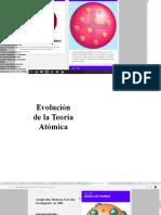 EVALUACION DE TEORIA ATOMICA