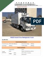 4x2 ISUZU Brand 5 Ton Refrigerator Truck price