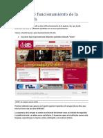 Análisis de funcionamiento de la página web