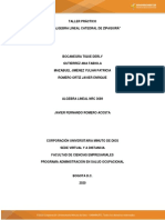 Actividad 3 - Evaluativa Evaluación sistemas de ecuaciones lineales