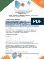 Guía de actividades y rúbrica de evaluación – Unidad 2 - Fase 3 – Cultura organizacional y funciones gerenciales (1)