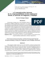 La comunicación interna de la responsabilidad social ambiental desde el método de Bagozzi y Phillips