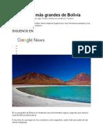 Los 6 lagos más grandes de Bolivia