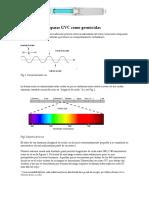 El uso de las lámparas UVC como germicidas