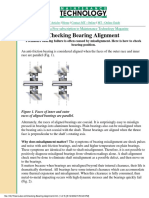 Checking Bearing Alignment