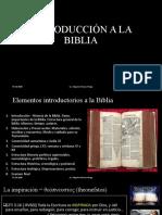 INTRODUCCIÓN A LA BIBLIA online