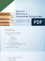 Tema II - Bancos e Inversiones Temporales