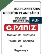 BATEDEIRA PLANETÁRIA REDUTOR PLANETÁRIO