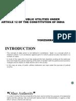 STATUS OF PUBLIC UTILITIES UNDER ARTICLE 12