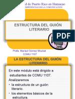 ESTRUCTURA DEL GUIÓN LITERARIO!