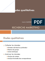 Etudes Qualitatives