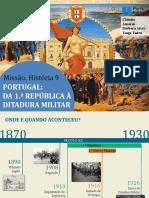 mh9 9.3 Portugal - da 1ª República à Ditadura Militar.pptx
