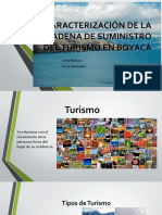 CARACTERIZACIÓN DE LA CADENA DE SUMINISTRO DEL TURISMO