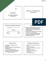 Review Materials in Ergonomics