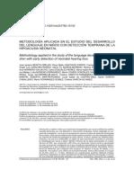 Varios - Metodologìa aplicada en el estudio del desarrollo del lenguaje en niños con detecciòn temprana de hipoacusia neonatal