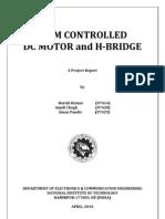 Pulse Width Modulation Controlled DC Motor and H-Bridge