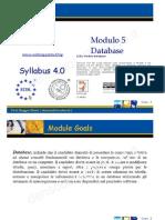 Ecdl Modulo5 Database