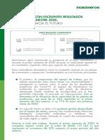 MONÓMEROS CON EXCELENTES RESULTADOS-PRIMER SEMESTRE 2020_