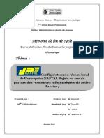 Configuration Du Réseau Local De L'entreprise NAFTAL Bejaia En Vue De Partage Des Ressources Informatiques Via Active Directory