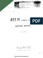 Fiat FiatAgri 411R Tractor Service Manual