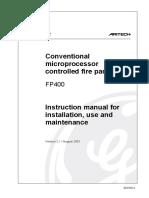 Aritech FP400 Installation Manual