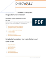 Tz300 w Safety and Regulatory Information