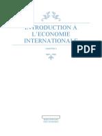 Chapitre 1 Economie Internationale