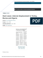 1999_Hard cases_ internal displacement in Turkey, Burma and Algeria - Turkey _ ReliefWeb.pdf