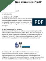 Configuration d'un client VoIP H323