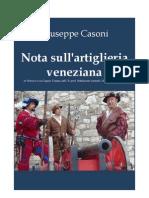 CASONI Giuseppe. On Venetian Artillery. 1847