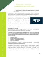 Planificación y descripción del documento para proyecto de grado