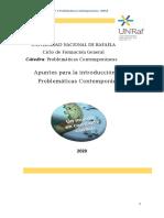 Apuntes para la introducción a las Problemáticas Contemporáneas