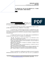 peticao requerimento certidao inclusao de nome cadastro de devedores