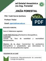 CLASE PRACTICA No.5 PARÁMETROS DEMOGRÁFICOS