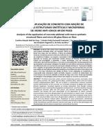 Artigo Científico _ Analise Da Aplicação de Concreto Com Adição de __macrofibras Estruturais Sintéticas e Microfibras __de Vidro Anti-crack Ar Em Pisos