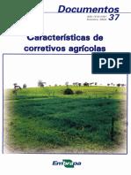 Características de corretivos agrícolas