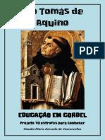 Tomas de Aquino Educacao Em Cordel Projeto 10 Estrofes