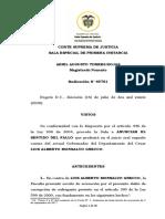 SENTIDO DE FALLO CONDENATORIO CORRUPCIÓN AL SUFRAGANTE