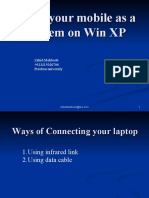 Mobile as Modem on Win XP