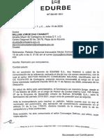Traslado Al Alcalde de Renuncia de Consuegra