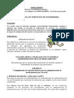 CALIDAD EN ENFERMERÍA - INDICADORES
