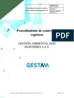PROC-GC-009 Procedimiento de control de registros_Revisión2